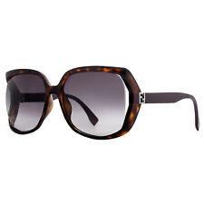 Fendi FF 0053/S MKQ/9O Dark Havana Brown/Burgundy Women's Oversized Sunglasses