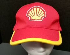 Vintage Shell Corporation Red And Yellow Strapback Hat, Racing?