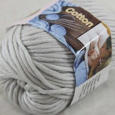 1BallX50g Special Thick Worsted 100% Cotton HAND Knitting Yarn 37 Silver Grey