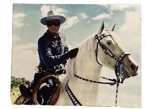 The Lone Ranger And Silver 8x10 Photo Clayton Moore