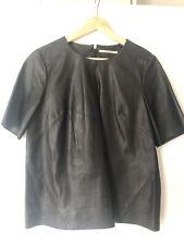 J Brand Black Leather Top L Fab