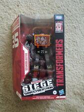Transformers War for Cybertron Siege SOUNDBLASTER new  (Black Soundwave) Netflix