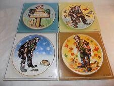 Signed Emmett Kelly Jr Collector Plates Four Seasons Set of 4 Box, Beautiful
