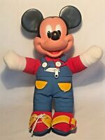 Vintage Mickey Mouse 1980s Learn to Dress Me Doll Mattel Button Buckle Shoe Tie