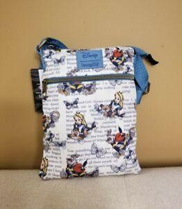Loungefly Disney Alice In Wonderland Passport Crossbody Bag Purse NEW