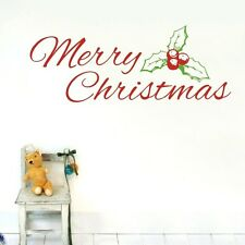 Wall Quote Art Decal Vinyl Sticker Removable Decor Merry Christmas Mural DIY