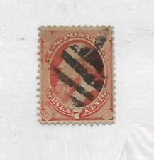 US 1871 7 Cent Edwin Stanton Scott 138 H Grill Vermilion F+ !  |