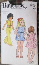 Butterick sewing pattern no.6625 children's PANTS TOP & SUNSUIT SIZE 4 VINTAGE