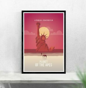 Planet of the Apes inspired print minimalist movie poster - Franklin J Schaffner