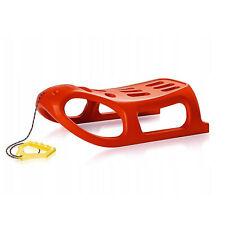 Rot Schlitten Kunststoffschlitten Little Seal Metallkufen Bobs Kinder Schlitten
