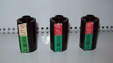 Set 3pcs Vintage Orwo Reloadable plastic Film Cassette for 35mm for Bulk loading