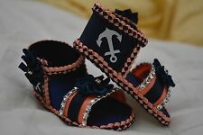 Handmade Baby Shoes (0-3 months) with matching head band