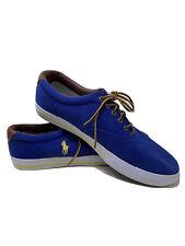Polo Ralph Lauren Vaughn Mens Blue Canvas Lace Up Sneakers Size 15 D Shoes