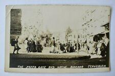More details for postcard jaffa gate & bazaar jerusalem unposted real photo rp vintage