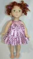 "FANCY NANCY Doll Jakks Pacific 18"" Vinyl Doll Red Curly Hair Green Eyes"