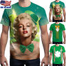 St Patrick's Day Men Women 3D Print Round Neck Short Sleeve Tops T Shirt Blouse