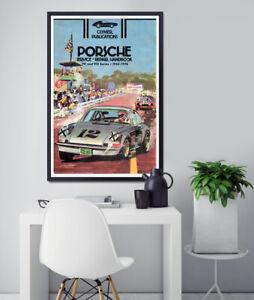 "Vintage Porsche 1976 Handbook POSTER! (full-size 24"" x 36"" or smaller) - Antique"