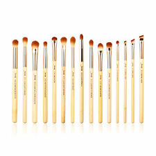 Jessup New 15pcs Bamboo Makeup Brush Set Cosmetic Brushes Kit Make up Tools T137
