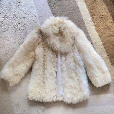 Tibetlamm Pelz Mantel Vintage 1970 Curly Mongolian Fur Coat Hippie Tibetian Lamb