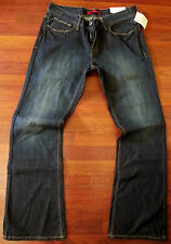 Guess Relaxed Boot Cut Jeans Mens Size 31 X 30 Sexy Distressed Dark Wash NEW