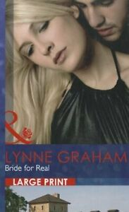 Bride for Real (Romance Lp) by Lynne Graham Book The Cheap Fast Free Post