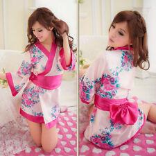 Kimono-UK Venditore-Da Donna Sexy Giapponese Cosplay Fiore Babydoll Chemise Costume