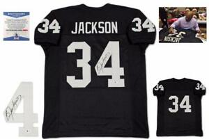 Bo Jackson Autographed SIGNED Jersey - Beckett Witnessed Authentic - Black