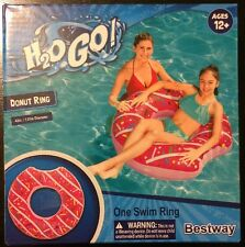 NEW Gigantic Inflatable Donut Pool Float Swimming Tube 42in pink