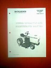 "BOLENS TRACTOR 48"" MOWER DECK ATTACHMENT MODEL 19210-01 OWNER'S MANUAL 10/72"