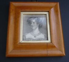 1817 GEORGIAN MAPLE FRAMED ENGRAVING OF MISS TAYLOR OF THE SURREY THEATRE