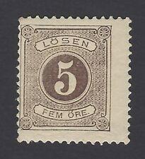Sweden 1874 Postage Due 5o Scott #J3 MH