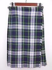 VINTAGE PITLOCHRY KNITWEAR 100% WOOL Green Tartan Plaid KILT Skirt  - WOMEN'S S