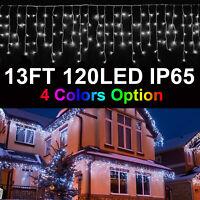 120 LED 13FT Curtain Icicle Lights Wedding Party Xmas Decor/100 LED Fairy Lights