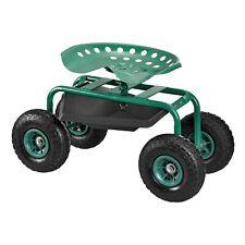 [pro.tec] Fahrbarer Gartensitz Sitzwagen Rollsitz Gartenhelfer Garten-Scooter