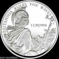 BRITANNIA RULES THE WAVES - 2015 Falkland Islands 1 Crown Cupro Nickel Unc. Coin