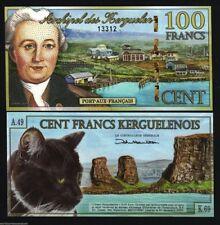 KERGUELEN FRANCE 100 FRANCS NEW 2010 POLYMER CAT ROCK UNC FUN MONEY LOT 20 BILLS