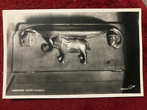 Exeter Cathedral, Misericord. RPPC