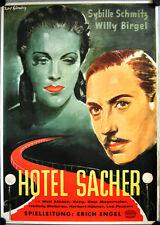 Hotel Sacher Filmposter A1 GEROLLT Kurt Glombig Sybille Schmitz, Willy Birgel