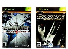 CONFLICT GLOBAL STORM & GOLDENEYE ROGUE AGENT. 2 GREAT SHOOTERS FOR THE XBOX!!