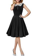 50's, Rockabilly No Pattern Party Regular Dresses for Women