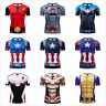 MARVEL DC AVENGERS CAPTAIN AMERICA COSPLAY COMPRESSION PREMIUM GYM T-SHIRT TOPS
