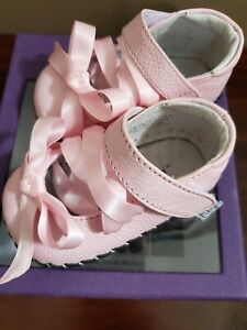 Baby Girl Pediped Pink Ballerina Shoes Orig. $39 size 0 - 6 months