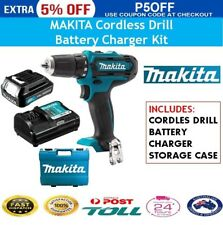 Makita Cordless Drill With Charger Battery Set Work Tool Driver Power Combo Kit
