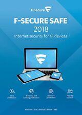 F-Secure SAFE 1 Gerät 2019 VOLLVERSION 1 PC 2017 Internet Security 2018 DE UE