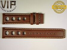 NEW OEM Authentic Tissot strap 20 mm Genuine leather brown color OLD VERY RARE