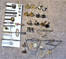 Vintage Tie Clips & Bars-Cuff Links-Some Assorted Sterling & Gold Filled Items