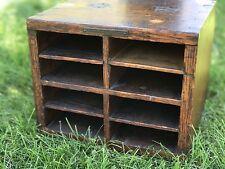 Antique Library Bureau Sole Makers 8 Slot Cubby Mail Postal Sorter(?) Box- Oak
