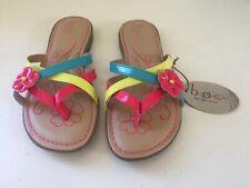 Girl's BOC Born Concepts Belinda Sandals Flip Flops rainbow flower size 5 EUR 37