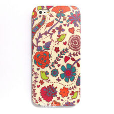 Bird Flower Heart Red Floral Pattern Design Hard Cover for Apple iPhone 5 Case