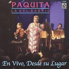 Paquita La Del Barrio : En Vivo: Desde Su Lugar CD